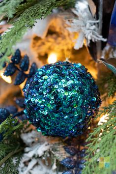#bluechristmasdecor #greenchristmasdecor #woodlandchristmas #sequins #ornament #christmas #christmastime #christmasseason #christmasvibes #christmasspirit #christmasdecorating #christmasdecor #christmasdecorations #christmashome #christmasinspiration #christmasinspo #vermeersgardencentre
