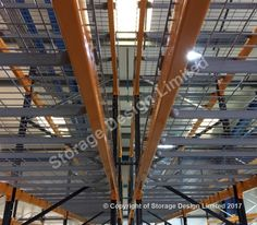 Wire decks used in Link 51 pallet racking Heavy Duty Racking, Yellow Pages, Storage Design, Wire Mesh, Shelving, Pallet Racking, Decks, Projects, Link