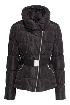 H&M Padded Black Jacket, $30; hm.com Courtesy of Retailer - 15 Chic Puffer Jackets You'll Actually Want to Wear - Elle