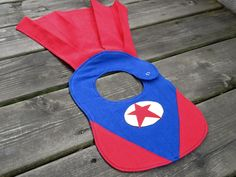 Superbaby Bib: no instructions, but this is an example of a cute one!
