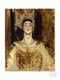 Nijinsky in Les Orientales Print by Jacques-Emile Blanche at Art.com