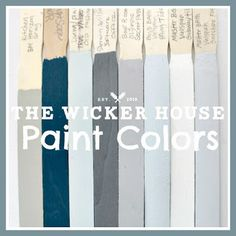 9 Calming Paint Colors Hi City Farmhouse friends! It's Emily from The Wicker House here and today I wanted to stop by and share our home's calming paint colors with you. Nautical Bathroom Paint, Bathroom Paint Colors, Interior Paint Colors, Paint Colors For Home, Nautical Paint Colors, Beachy Paint Colors, Painting Wicker Furniture, Colorful Furniture, Room Colors
