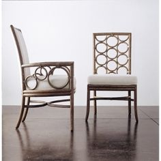 McGuire Furniture: Laura Kirar Upholstered Arm Chair: M-283 for dining room accent chairs FF 203