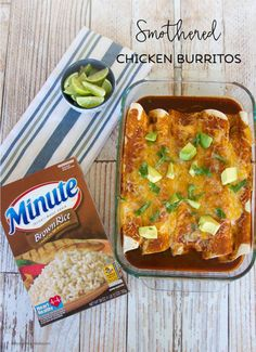 Smothered Chicken Burritos on BusyMommyMedia.com