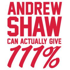 Andrew Shaw Can Actually Give 111% Men's T-Shirt | The Heckler Store