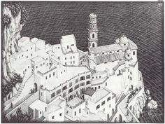 Atrani, Coast of Amalfi - M.C. Escher, 1931