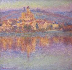 Vetheuil at Sunset - Claude Monet