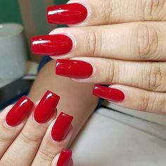 Perfect Red by Bio Seaweed Gel in Valentine by @nails_by_itsme_le