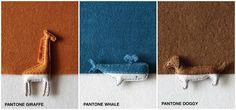 'Pantone Animals' con fieltro de colores