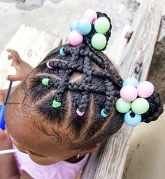 Little Girls Natural Hairstyles, Black Baby Hairstyles, Cute Toddler Hairstyles, Kids Curly Hairstyles, Hairstyles For School, Kid Braid Styles, Braids For Kids, Braids For Black Hair, Natural Hair Styles