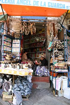 From Bolivia.for91days...One of the more famous areas in La Paz is the Mercado de Hechecería, or The Witches' Market…from a blog of 2 travelers who visit a different place for 3 months. Fascinating...