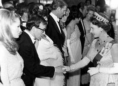 Woody Allen and Queen Isabel II, 1966