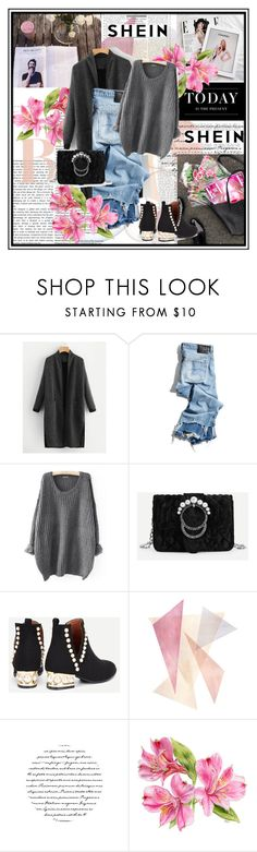 """""""SHEIN 7"""" by emiiillly ❤ liked on Polyvore featuring R13, WALL and Levi's"""