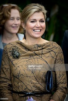 Queen Maxima of The Netherlands visits horticultural company Koppert Cress on March 7, 2017 in Monster, Netherlands. The company is specialised in a variety of edible plants and flowers that are used by national and international chefs, restaurants and hotels. Kipper Cress is winner of the Koning Willem I Award for sustainable entrepreneurship.