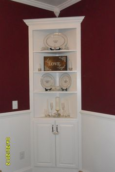 How To Build A Corner China Cabinet  Corner China Cabinets China Captivating Unfinished Corner Cabinets For Dining Room Inspiration