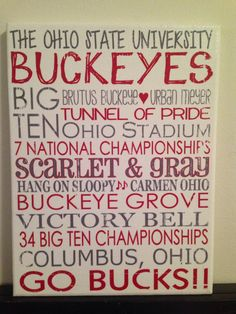 Subway Art The Ohio State University Buckeyes by CreationsbyCLM, $30.00