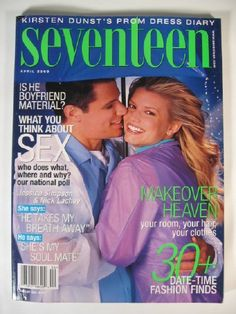 April 2000 cover with Nick Lachey & nineteen-year-old Jessica Simpson