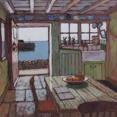 """Mike Hall - """"Harbour cottage interior"""""""