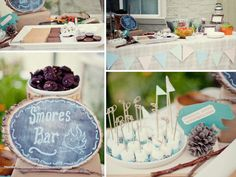 Camping inspired baby shower!  Someone needs to have a boy soon; someone besides me