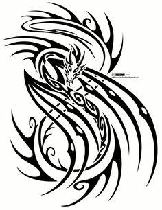 Tribal Dragon Tattoos | Tribal dragon tattoo design