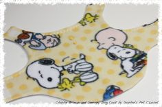 Charlie Brown and Snoopy Dog Coat  XS by SophiesPetCloset on Etsy