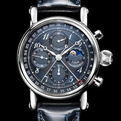Showing at WatchTime LA: Chronoswiss Sirius Chronograph Moon Phase Men's Watches, Luxury Watches, Cool Watches, Watches For Men, Trendy Watches, Elegant Watches, Beautiful Watches, Moon Phases, Moda Masculina