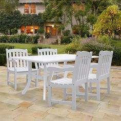 Bringing together the charm and beauty of white furniture, this set makes your outdoor dreams a reality. In Acacia hardwood, this set will last for years to come.