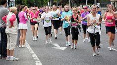 Women running. Some look joyful and some don't! #joyofsport
