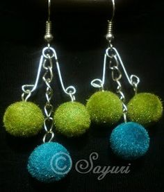 Safety pin dangler earrings tutorial | Jewels of sayuri