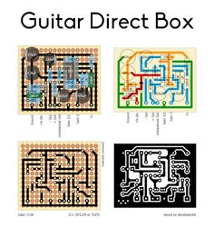 This is a library of perfboard and single-sided PCB effect layouts for guitar and bass for pedal building enthusiasts. Diy Guitar Amp, Diy Guitar Pedal, Guitar Effects Pedals, Guitar Pedals, Boost Pedal, Safari, Circuit Diagram, Pedalboard, Fuzz