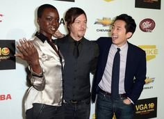 Norman, when you touch other people, do they usually faint? | 36 Photos Of Norman Reedus That Will Give You A Zombie Boner