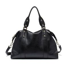 BOSTANTEN Womens Leather Designer Handbags Cross Body Shoulder Tote Bag Black * Click image to review more details.Note:It is affiliate link to Amazon.