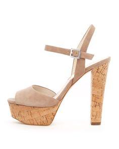 MICHAEL Michael Kors Lucia Suede Platform Sandal. $165