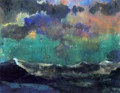 Dark Sea (Sky Green) de Emile Nolde (1867-1956, Germany)