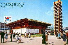 World Expo 67 -South Korea pavillon- Expo 67 Montreal, Montreal Canada, Montreal Quebec, Big Show, Urban, World's Fair, Architecture Photo, Landscape Photos, Old Photos