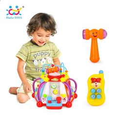 Baby Toy Musical Activity Cube Play Center With 15 Functions & Skills Learning Educational Toys For Children Trending Accessories Toddler Toys, Baby Toys, Kids Toys, Activity Cube, Musical Toys, Play Centre, Toy Puppies, Educational Toys For Kids, Early Learning