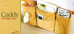 Have your daily essentials easily stored & organized right by your side with the Bedside Caddy Storage Bag for only AED 29... #Dubai #UAE #Product  Buy here --> http://www.hitthedeals.com/dubai/products/caddy-storage-bag.html