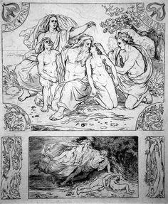 Nordens Guder (Norse Gods) illustration by Lorenz Frolich