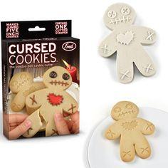 """Cursed Cookies"" Voodoo Doll Cookie Stamper  - http://tmblr.co/ZPNP8u1Mtz8qR  http://www.facebook.com/goreydetails http://twitter.com/GoreyDetails"