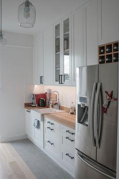 kuchnia w stylu skandynawskim, scandinavian kitchen, custom kitchen cabinets by Artystyczna Manufaktura