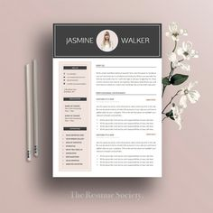 Cover Letter In A Resume Interesting Resume Template And Cover Letter Templatemypaperpig On Etsy .