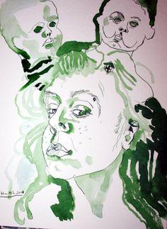 Drawing Ink Art  Mein Ich (c) Zeichnung von Susanne Haun