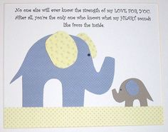 No one else will ever know the strength of my love for you-elephant-Baby Boy Art Decor Nursery Decor Children's Art Kids by vtdesigns, $14.00
