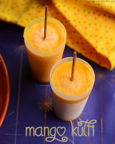 Mango kulfi is a rich milk based frozen mango dessert that can be easily made and enjoyed at home. Full video and step by step pictures recipe. Mango Desserts, Frozen Desserts, Indian Desserts, Indian Sweets, Indian Food Recipes, Mango Recipes Canning, Mango Kulfi, Kulfi Recipe, Falooda