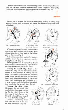 finger wave step by step - right from the Milady Cosmetology Student Course Book. Not Easy, but worth the time to learn correctly. Finger waves and pin curls are the  foundation of GREAT HAIR-DRESSING.