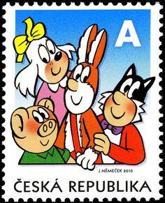 CLOVERLEAF/ČTYŘLÍSTEK - A , (Comics) . Czech Republic 2010 Postage Stamp Art, A Comics, Czech Republic, Disney Characters, Fictional Characters, Rabbit, Artists, Google Search, Rabbits