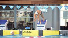 Jordan Coelho à la piscine olympique de Dijon en préparation aux championnats du monde de natation en juillet 2013 © Damien Rabeisen