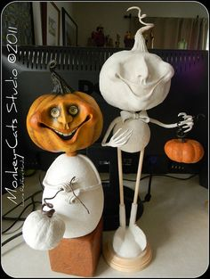 Pumpkin Boy WIPs by Monkey-Cats Studio, via Flickr I love it when other artists share their process.  It's so cool to see things come together.
