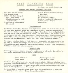 louis armstrong's favorite red beans and rice recipe #crazyass
