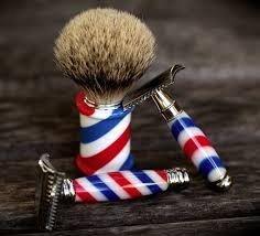 Barber Pole razor and brush...(52) Tumblr